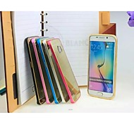 Mirror Surface Mobilephone Shell Brief Metal Mobilephone Outer Skin for Samsung S6Edge New Style