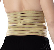 Ollas Unisex Outdoor Fitness One-piece Light Yellow Cotton Nylon Breathable Elastic Waist Protective Gear S9301
