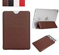 ipad disegno colore foldindg solido dell'unità di elaborazione caso Custodia in pelle da 10 pollici con il basamento per ipad2 / 3/4 Aria