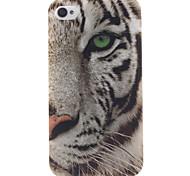 weiße Tiger-Muster-TPU weiche Tasche für iPhone 4 / 4S