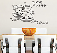 I Love Coffee PVC Wall Sticker Wall Decals