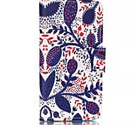 blauw patroon retro kwaliteit PU materiaal case voor iPhone 6