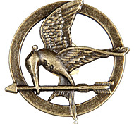 hunger games padrão mockingjay broche de liga de bronze -