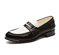 Men's Shoes Office & Career/Party & Evening/Casual Leather Loafers Black/White