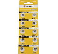 COMSAN AG4 377 High Capacity Button  Batteries (10PCS)