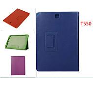fundas de cuero de grano litchi con el sueño soporte automático / vigilia para Samsung Galaxy Tab a 9.7 (colores surtidos)