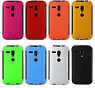 2 in1 Hybrid High Impact Hard Silicone Case for Motorola moto G (Assorted Color)