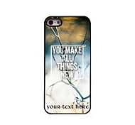 Personalized Gift You Make All Things New Design Aluminum Hard Case for iPhone 5/5S