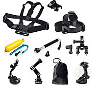 11-in-1 Outdoor Sports Headband + Chest Strap + Monopod Adapter Kit for GoPro / SJ4000 / XiaoYi