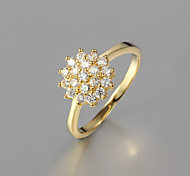 Z&X® Gold Plated Fashion Zircon Flower Statement Rings Party/Daily