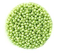 beadia 58g (ca. 2000pcs) 4mm lang abs Perlen hellgrüne Farbe Kunststoff-Perlen