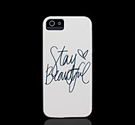 frase patroon dekking voor iphone 4 case / iphone 4 s case