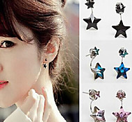 HUALUO®Fashion Pentagram Crystal Earrings