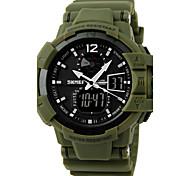 skmei® montre conception militaire sport analogique-numérique double fuseaux horaires / calendrier / chronographe / alarme pour hommes
