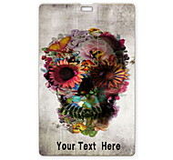 Personalized USB Flash Drive Skull and Flower Design 64GB Card USB Flash Drive