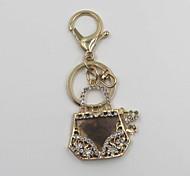 Fashion Unisex Shining Crystal Alloy Bag Style Pendant Keychains
