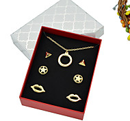 New Comimg Cheap Gold Plated Necklace Earrings Fashion Jewelry Set