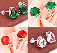 espumoso amigo don fuego verde de cuarzo rojo joya topacio aretes de plata 925 para 1pairs alquileres diarios banquete de boda