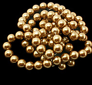 Beadia 2 Str(approx 180pcs) 10mm Round Glass Beads Brown Color Imitation Pearl Beads DIY Spacer Loose Beads