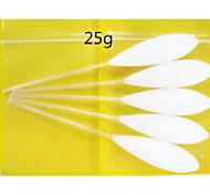 5pcs 25g flutuar para cima bombarda pesca flutuador equipamento de pesca