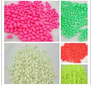 1000pcs * perles dures 4 * 5 en plastique de pêche perles ovales borne de pêche leurres