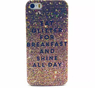 Gold sparkle Pattern Transparent Frosted PC Back Cover For  iPhone 4/4S