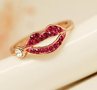 Sweet Fashion Personality Red Lip Ring
