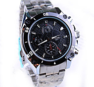 Men's New Round Dial PC Movement Steel Strap Fashion Life Waterproof Quartz Watch (Assorted Colors)