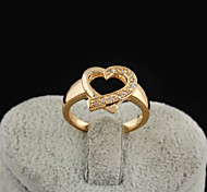Women's Elegant 18K Gold Plated Lady Heart Love Rings