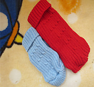 Dog Sweater Red / Blue Winter Solid
