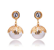 Pearl Diamond Fashion Elegant Lady Diamond Earrings