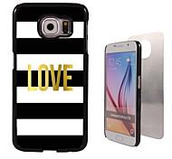 liefde ontwerp aluminium koffer voor Samsung Galaxy s6