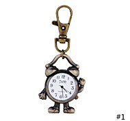 Classic Designer Lovely fashion Robot Alarm Clock Pendant Brass Pocket Watch with Chain for Men Women Gift Watch