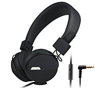 kanen ip-852 fone de ouvido headphone jack de 3,5 mm auscultadores dobráveis w / mic