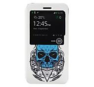 Skull Pattern PU Leather Phone Case for Nokia Microsoft Lumia 640 XL