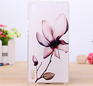 Flower Pattern TPU Cover Case for Huawei P7 Phone Cases