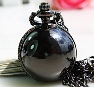 Women's New Black Ball Shape Round Dial Fashion Quartz Necklace Watch Pendant Watch Cool Watches Unique Watches