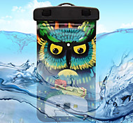 Yellow-Eyed Owl Pattern Transparent Waterproof Touchscreen for iPhone 6