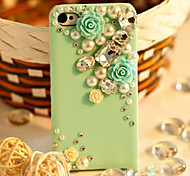 Pearl Chrysanthemum Set Auger Hard Back Case for iPhone6 (Assorted Color)