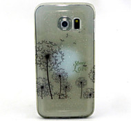 Dandelion Pattern Glitter TPU Cell Phone Soft Shell For Galaxy S3 /S4 /S5 /S6/ S6 edge /S3Mini /S4 Mini