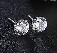 Japan and South Korea style   S925 Silver  Crystal Stud Earrings