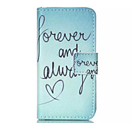 Always Love Pattern PU Leather Painted Phone Case For iPhone 4/4S