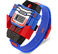 Boy's Robot Watch Assembly Transformer Design Toy Digital Watch