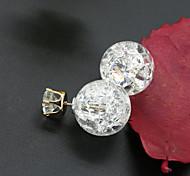 Stud Earrings Cubic Zirconia Rhinestone Alloy Fashion Yellow Green Blue Pink Light Blue Jewelry 1set