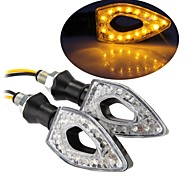 15 LED Turn Signal Indicators Light Lamp Bulb for Motorcycle Motorbike Amber (2 Pcs)