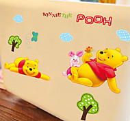 Cartoon Lovely Winnie The Pooh PVC Wall Sticker Wall Decals
