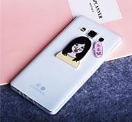 Kiss Girl Pattern Ultra Thin Transparent TPU Soft Cover Case for Samsung Galaxy A3/A5/A7/A8