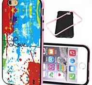 2-in-1 bunte Liebesmuster tpu rückseitige Abdeckung mit pc Stoßstange stoßfest Hülle für iPhone 6