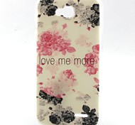 Flowers Pattern TPU Material Soft Phone Case for LG L90 D405
