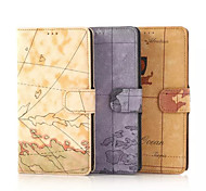 5.7 Inch Map Pattern Hand Strap Luxury Leather Case for Samsung Note 4(Assorted Colors)